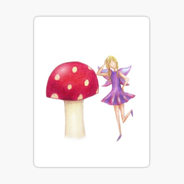 Fairy & Toadstool Day Dreaming Sticker