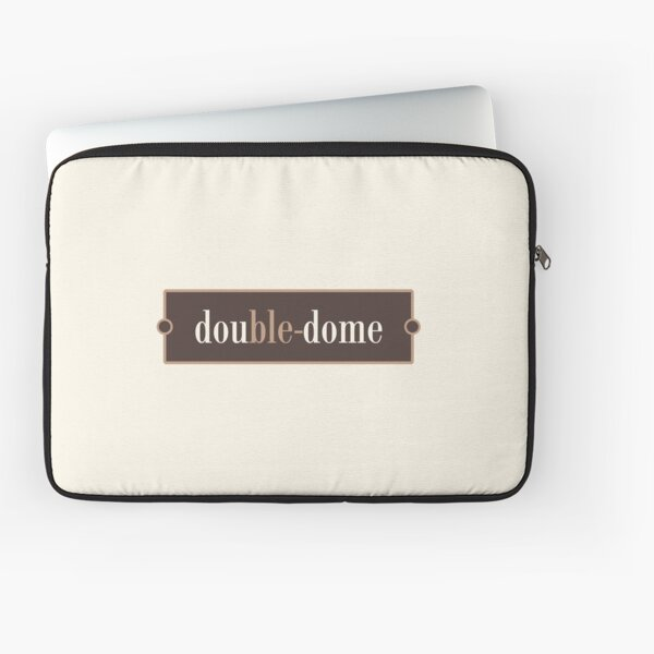 Double-dome – Words for Book Lovers (Chocolate Edition) Laptop Sleeve
