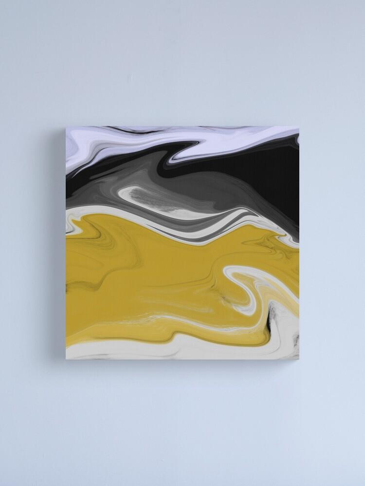 Alternate view of Liquid Black Gold Swirls Canvas Print