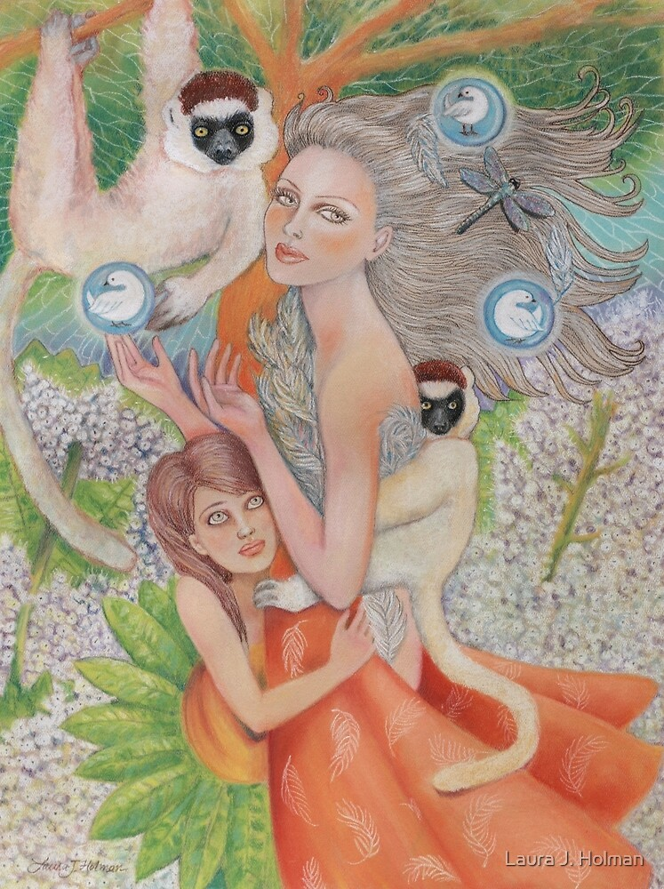 Mother Universe with Daughter Earth and the Lemurs by Laura J. Holman