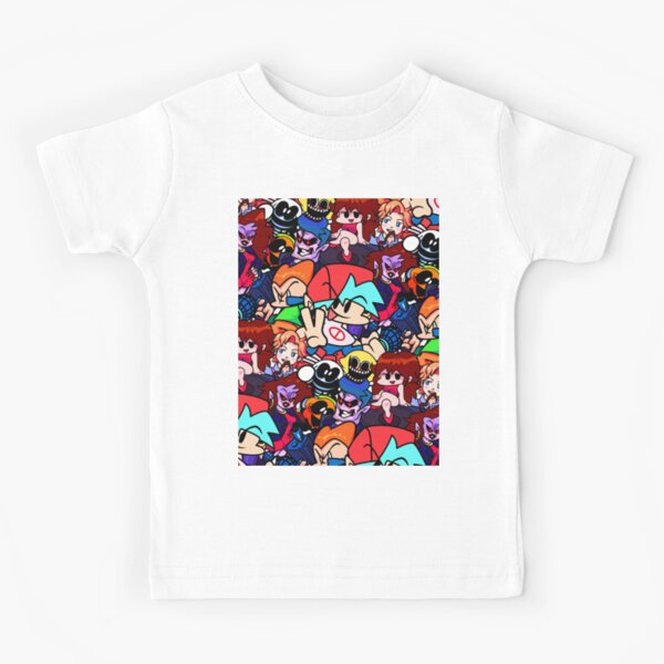 Friday Night Funkin Collage Kids T-Shirt