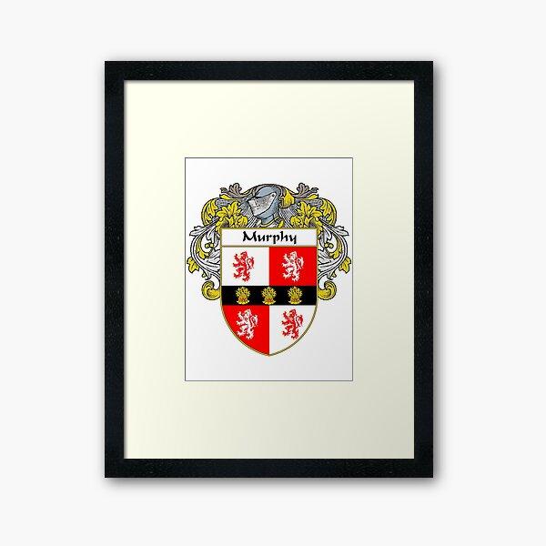 Murphy Coat of Arms/Family Crest Framed Art Print