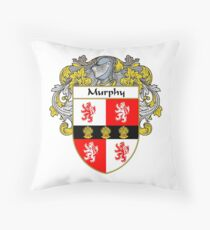 Murphy Coat of Arms/Family Crest Throw Pillow
