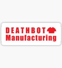Deathbot Mfg Red Logo Sticker