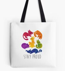 LGBT + PRIDE CATS Tote Bag
