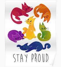 LGBT + PRIDE CATS Poster