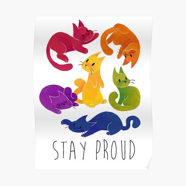 LGBT + PRIDE CATS Poster