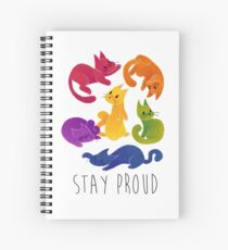 LGBT + PRIDE CATS Spiral Notebook