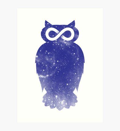 Cosmic owl II Art Print
