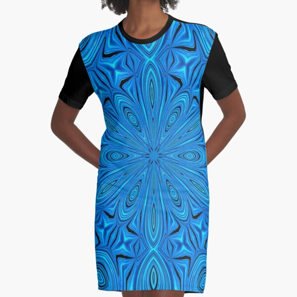 Inside of A Snowflake Graphic T-Shirt Dress
