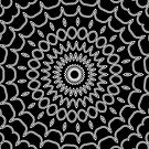 Mandala Fractal in Black and White by charmarose