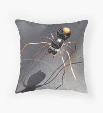 Red Back Spider Throw Pillow