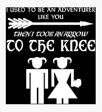I used to be an adventurer (White) Photographic Print
