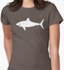 Shark Pattern Green Womens Fitted T-Shirt