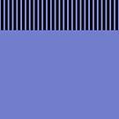 Trendy Violet Chic Black Stripes by Beverly Claire Kaiya