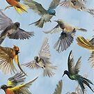 Womens T-Shirt Dress Birds in Flight by Gotcha29