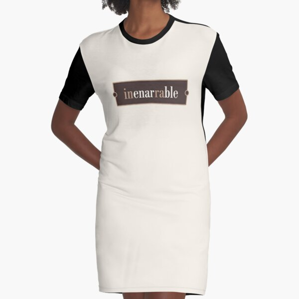 Inenarrable – Words for Book Lovers (Chocolate Edition) Graphic T-Shirt Dress