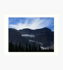 Crowfoot Glacier Art Print