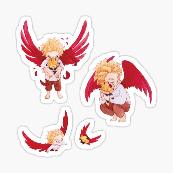 Bébé Hawks et sa peluche d'Endeavor - Paquet de 3 Sticker
