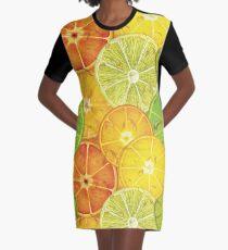 Womens T-Shirt Dress Fresh Citrus Graphic T-Shirt Dress