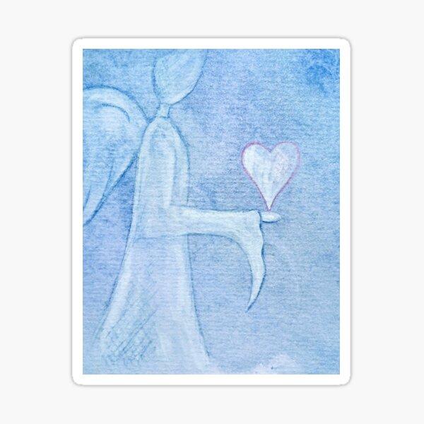 An Angels Love at Angel Wings Art Sticker