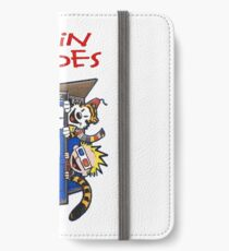 calvin and hobbes police box  iPhone Wallet/Case/Skin