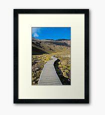 Boardwalk in Tongariro National Park (2) Framed Print