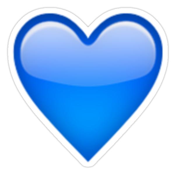 """Blue Heart Emoji"" Stickers by Brogy2323 | Redbubble"