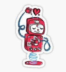 Red Robot Sticker