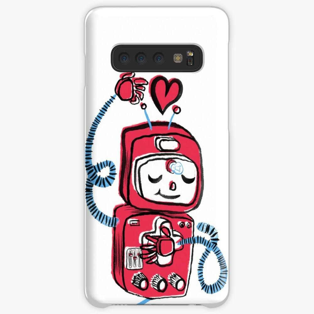 Red Robot Case & Skin for Samsung Galaxy