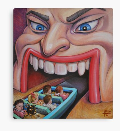 Welcome to the Funhouse Canvas Print