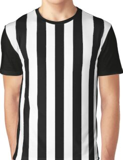 Black & White Striped Dress Graphic T-Shirt