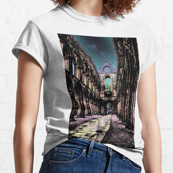Interior of Jedburgh abbey Classic T-Shirt