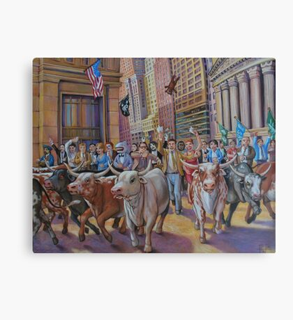 The Running of the Bulls Canvas Print