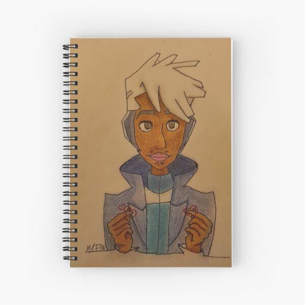 Sending finger hearts  Spiral Notebook