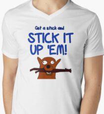 Get a stick and... Men's V-Neck T-Shirt