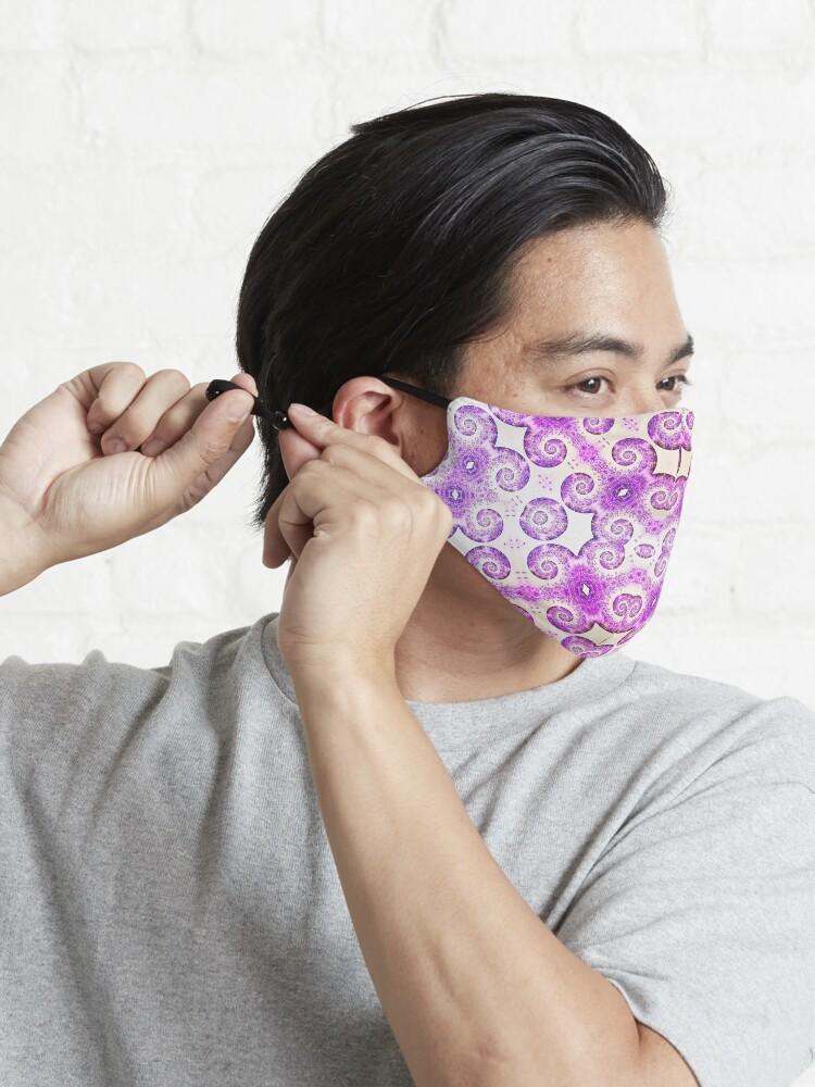Alternate view of Lavender Love mandala design Mask