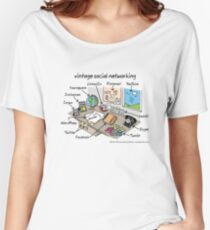 vintage social networking Women's Relaxed Fit T-Shirt