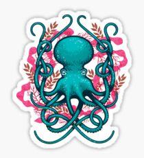 Octupus & Coral Sticker