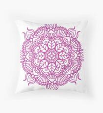 Magenta Mandala Zentangle Throw Pillow