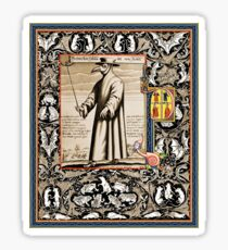 P is for Plague Doctor Sticker