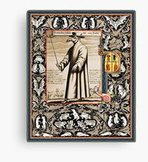P is for Plague Doctor Canvas Print