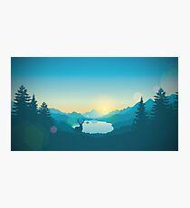 Firewatch Art Design 4K Photographic Print