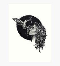Lámina artística Duende y colibrí