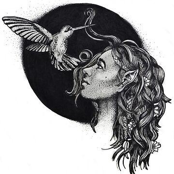 Elf And Hummingbird by mayavavra