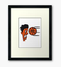 Basketball sports funny cool Framed Print