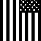Black And White American Flag by DrDowfin