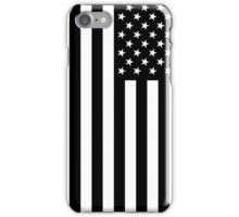 Black And White American Flag iPhone Case/Skin