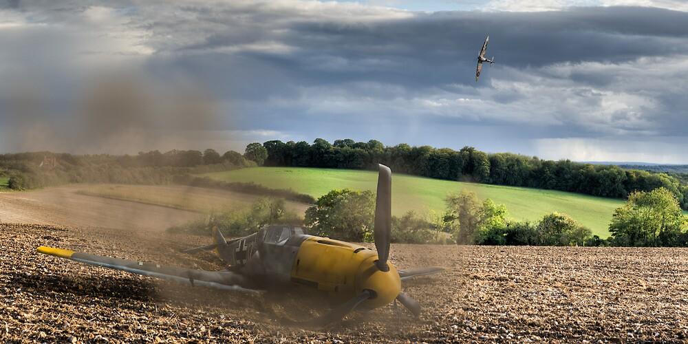 Crash-landing Bf 109 by Gary Eason