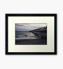Dark Beach, Lake Ontario Framed Print